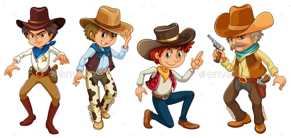 Four Cowboys - People Characters
