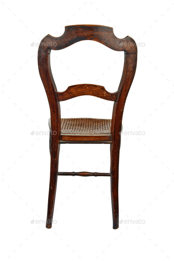 Antique Wooden Chairs >> Antique Wooden Chair Back View