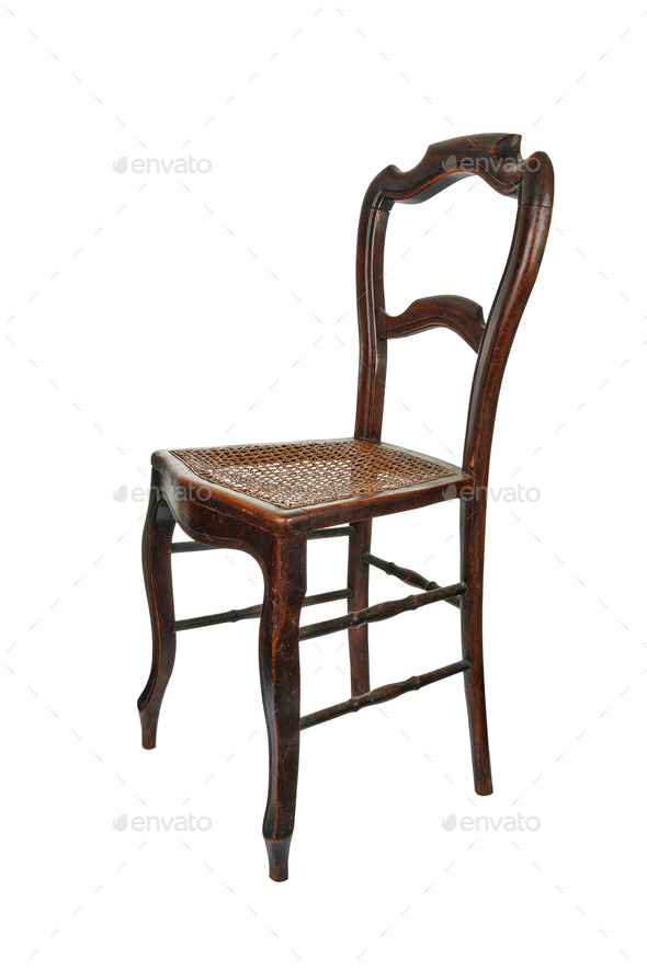 Antique Wooden Chairs >> Antique Wooden Chair 3 4 Front View Stock Photo By Pbombaert