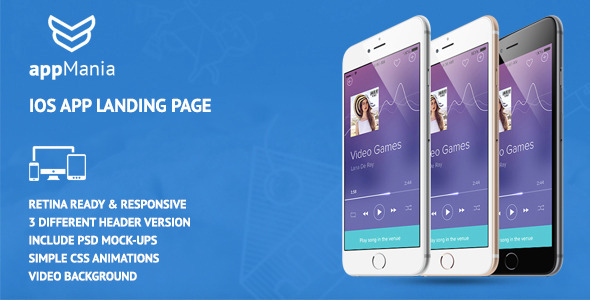 AppMania – Simple App Landing Page