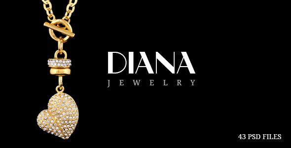 Diana – Creative Jewelry PSD Template