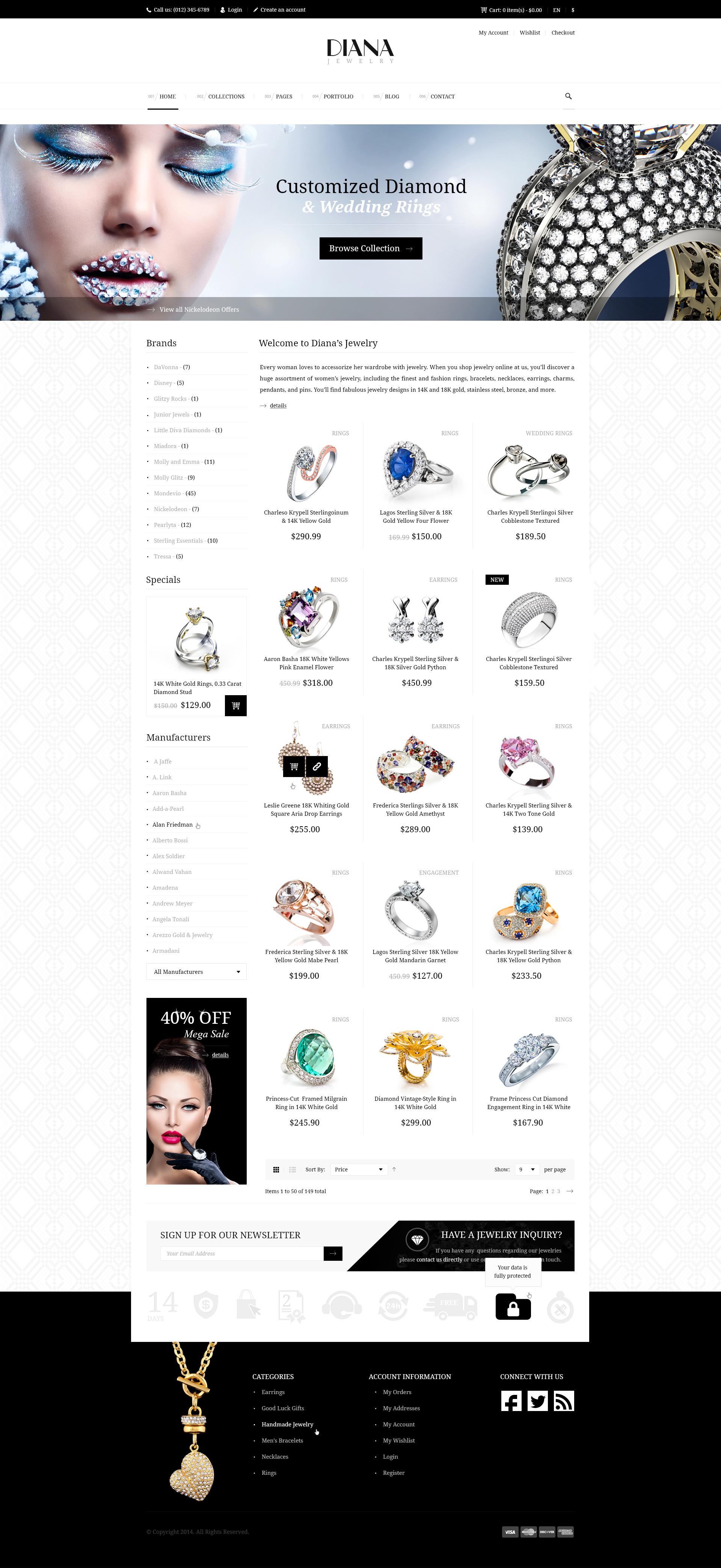 Diana Creative Jewelry Psd Template By Diadea3007