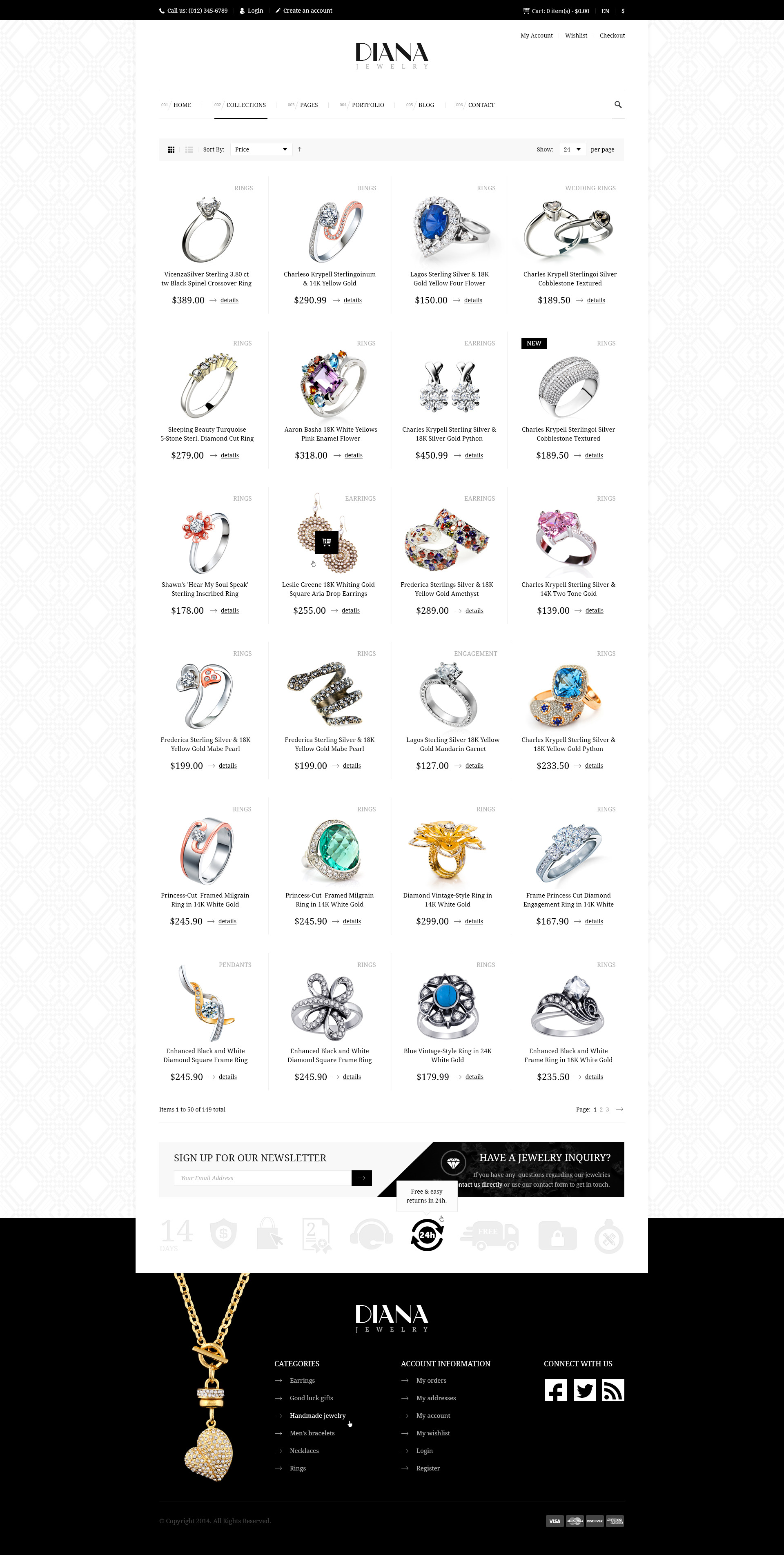 Diana Creative Jewelry Psd Template