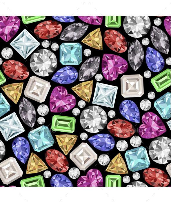 Gemstone Pattern - Patterns Decorative