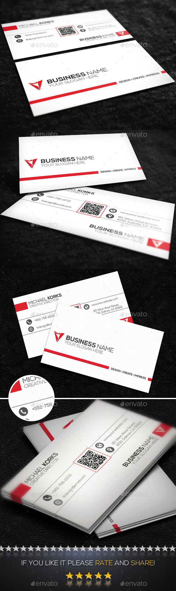 White Creative Business Card No.07 - Creative Business Cards