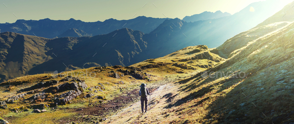 Hike in Bolivia - Stock Photo - Images