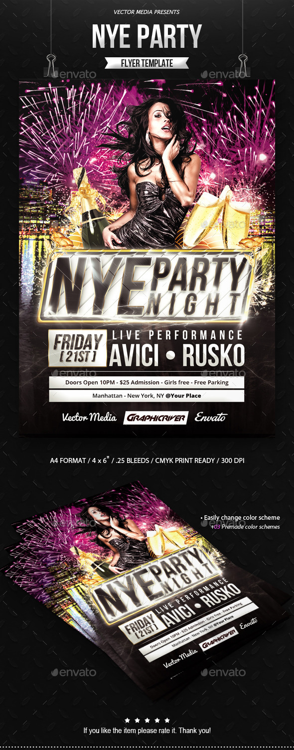 NYE Party - Flyer - Clubs & Parties Events