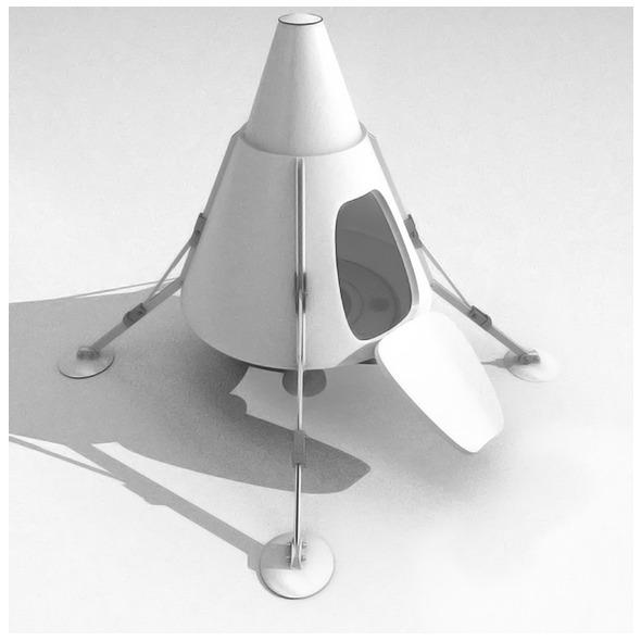 Retro Spacecraft - 3DOcean Item for Sale