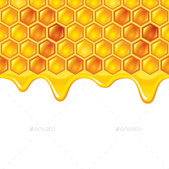 Honeycombs with Honey - Organic Objects Objects