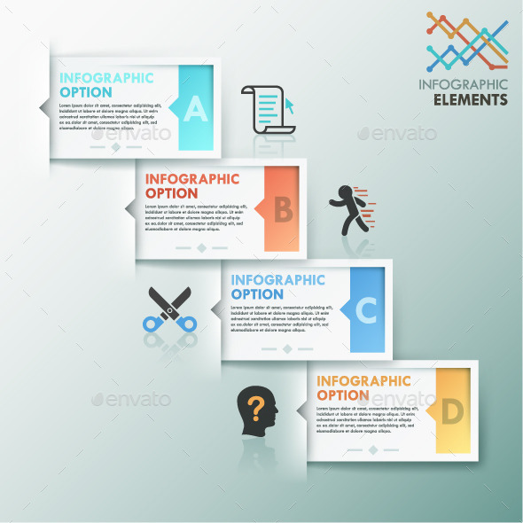 Modern Infographic Options Template - Infographics