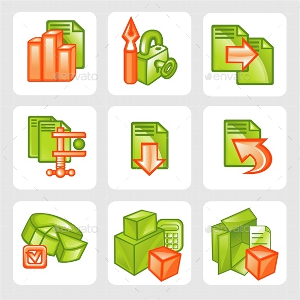 Business Icons  - Web Elements Vectors