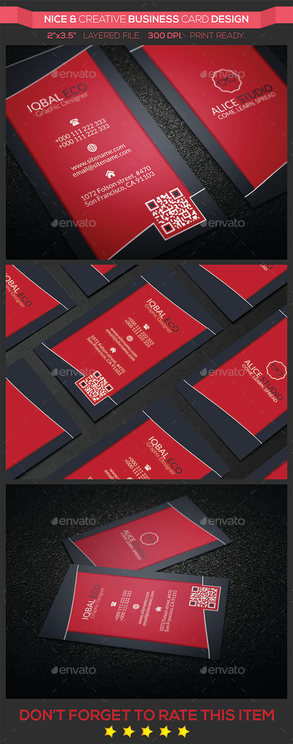 Nice & Creative Business Card Design - Creative Business Cards