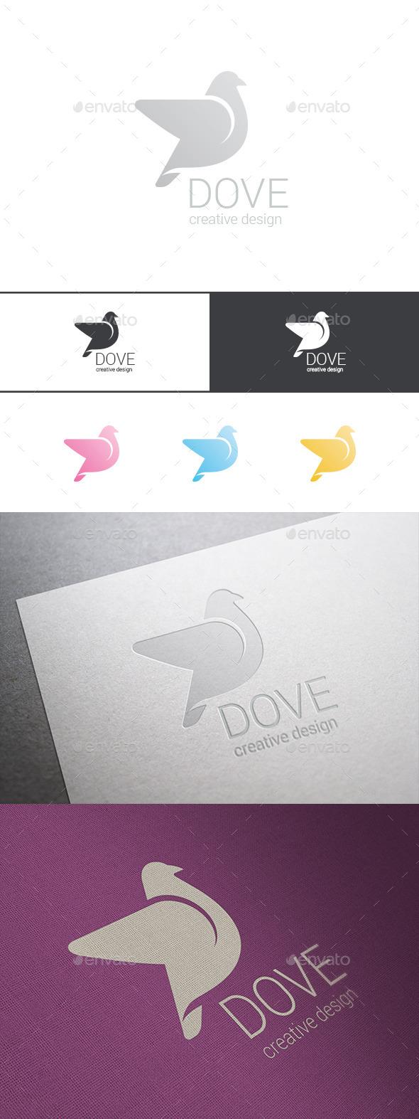 Logo Dove Delicate Cosmetics - Animals Logo Templates