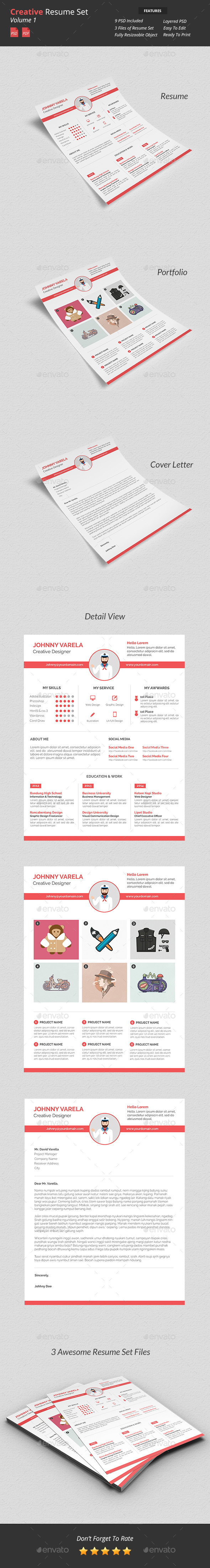 Creative Resume Set v1 - Resumes Stationery