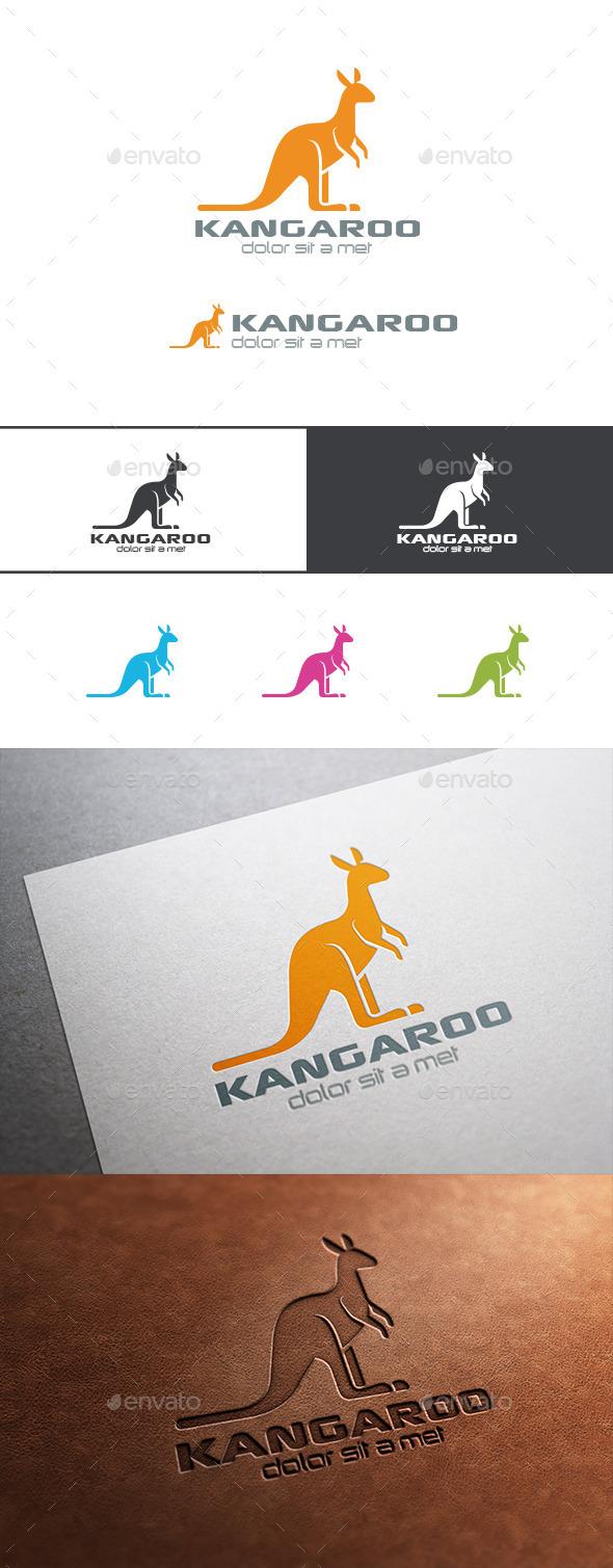 Logo Kangaroo Silhouette - Animals Logo Templates