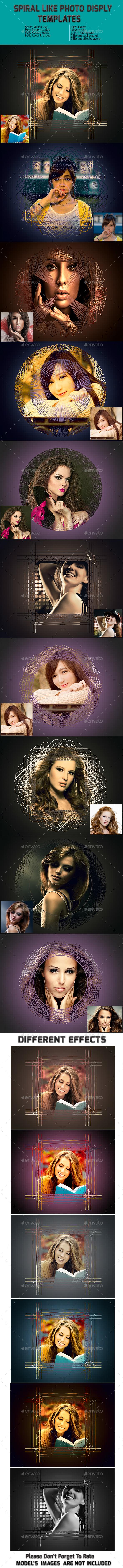 Spiral Like Frame Templates - Photo Templates Graphics