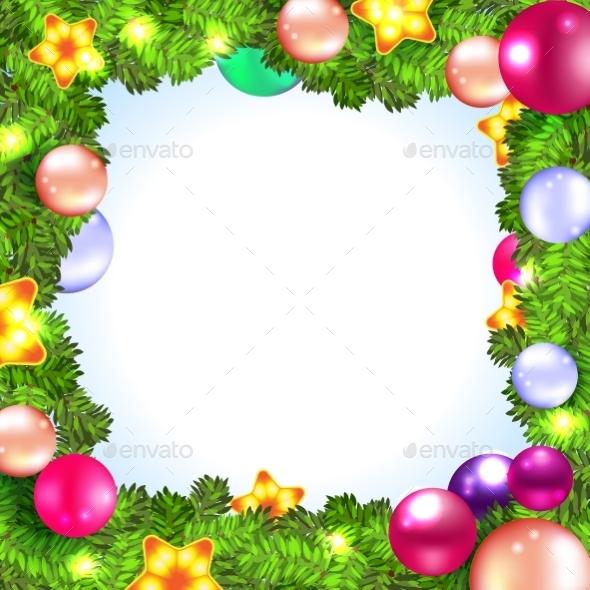 Christmas Wreath with Fir and Holly - Christmas Seasons/Holidays