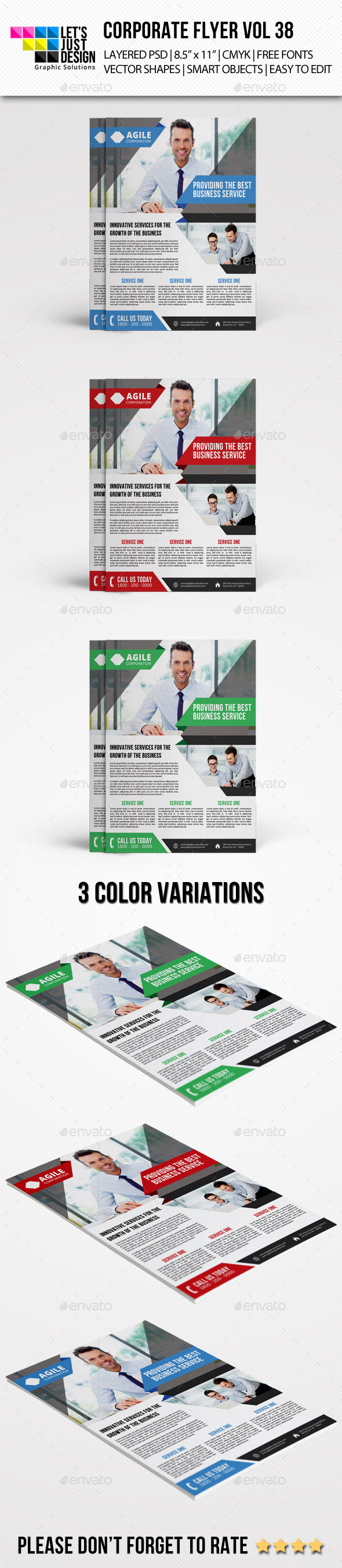Corporate Flyer Template Vol 38 - Corporate Flyers