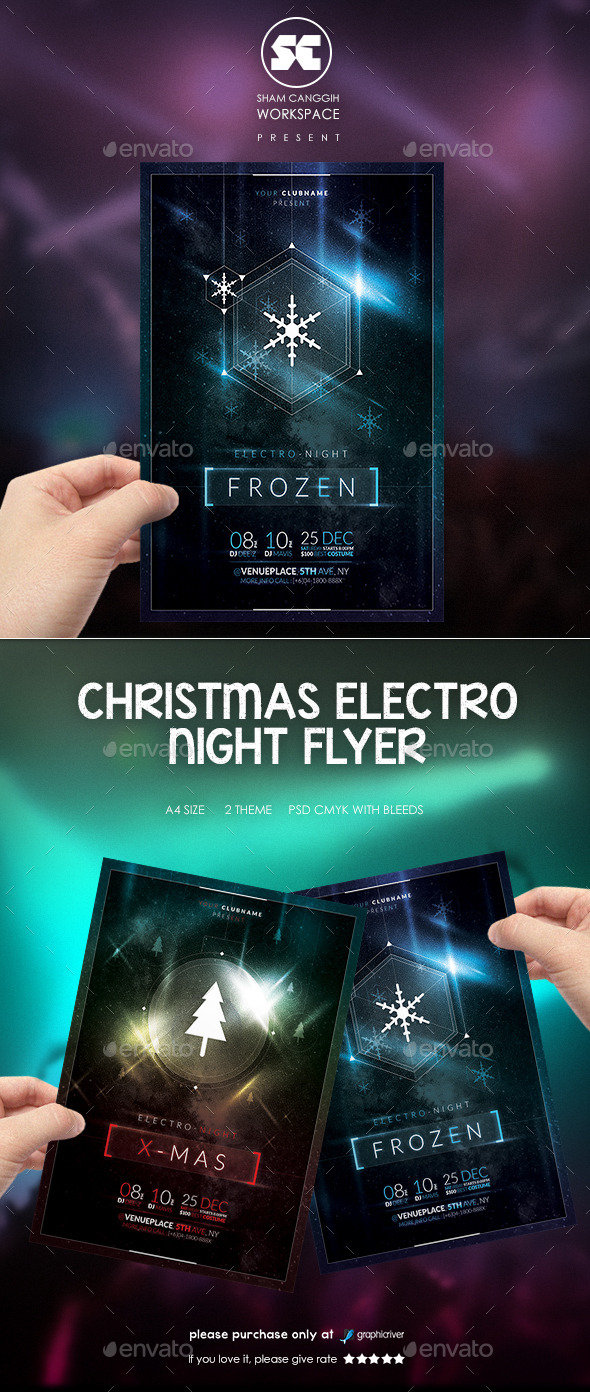 Christmas Electro Night Flyer - Clubs & Parties Events