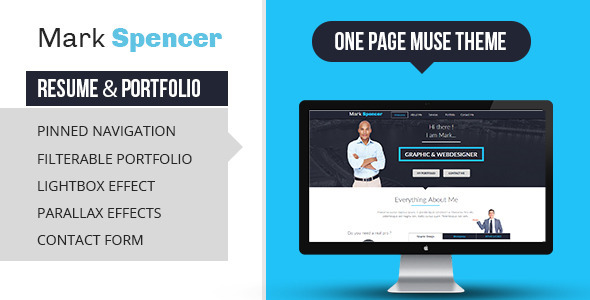 Business Portfolio & Resume Muse Template - Creative Muse Templates