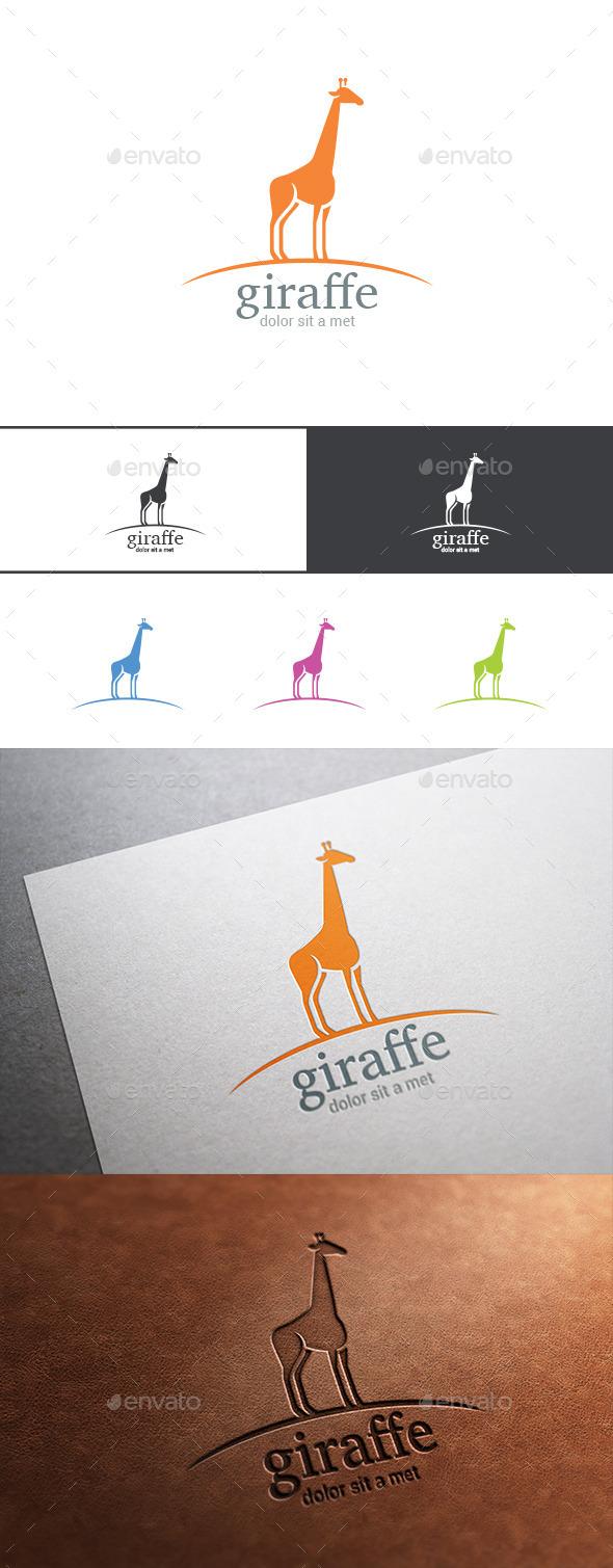 Logo Giraffe Silhouette - Animals Logo Templates