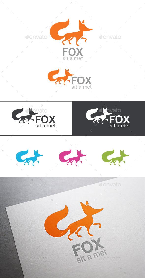 Logo Fox Silhouette - Animals Logo Templates
