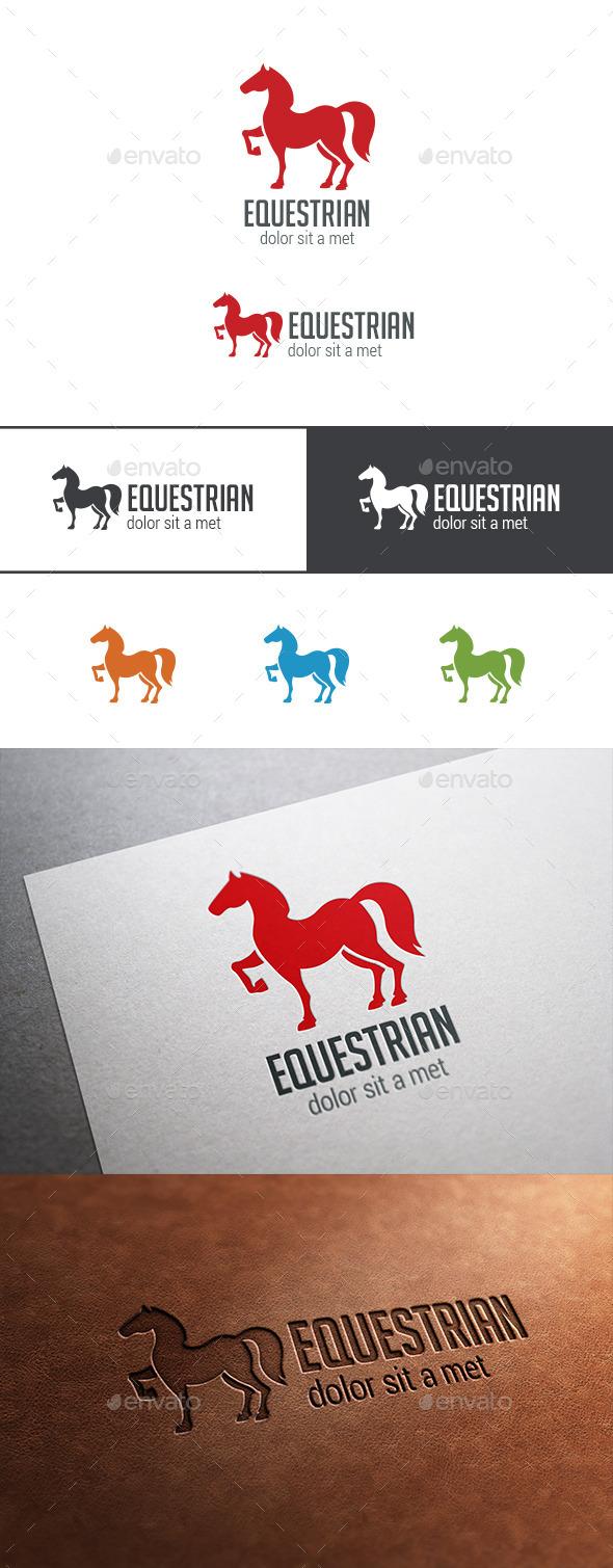 Logo Horse Silhouette - Animals Logo Templates