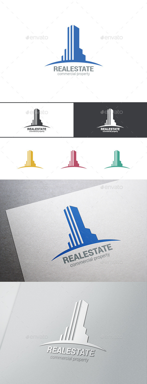 Logo Real Estate Skyscraper - Buildings Logo Templates