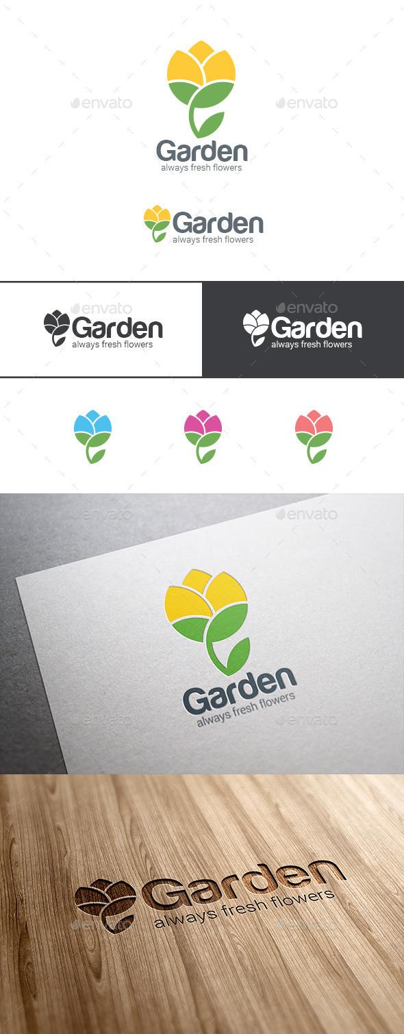 Flower Logo Abstract Garden - Nature Logo Templates