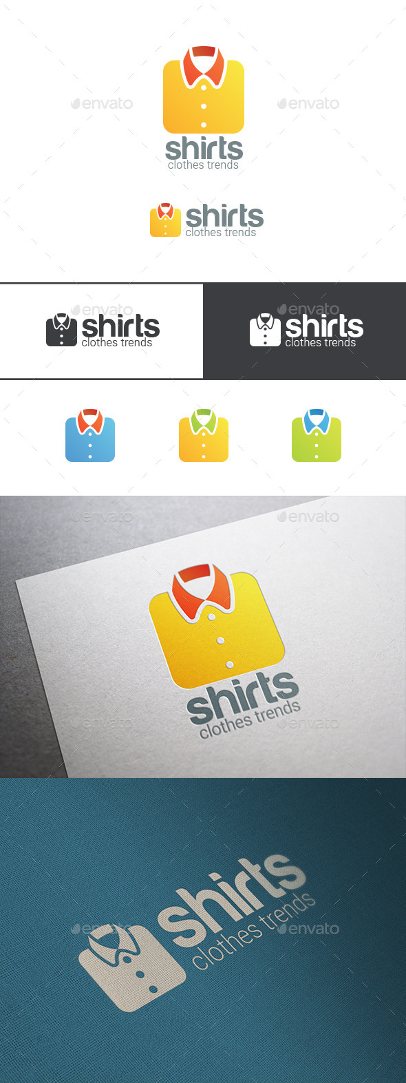 Shirt Logo Clothes Shop - Abstract Logo Templates