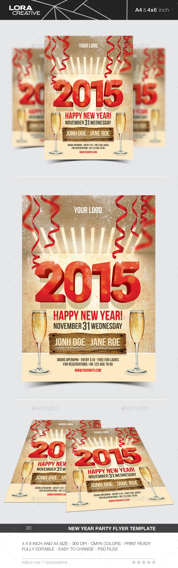 New Year Party Flyer / Poster - 20 - Events Flyers