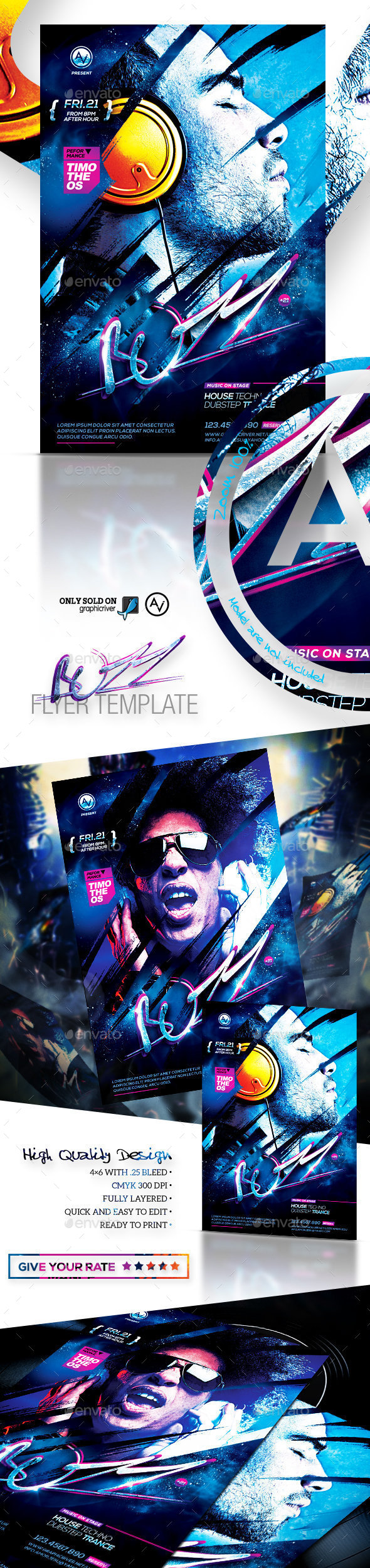 Buzz Flyer Template - Clubs & Parties Events