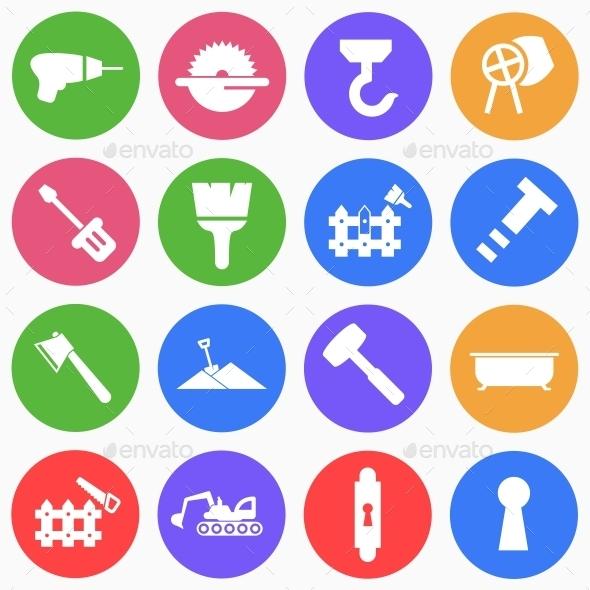 Construction Flat Icons (4) - Web Icons