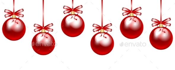 Red Baubles - Christmas Seasons/Holidays