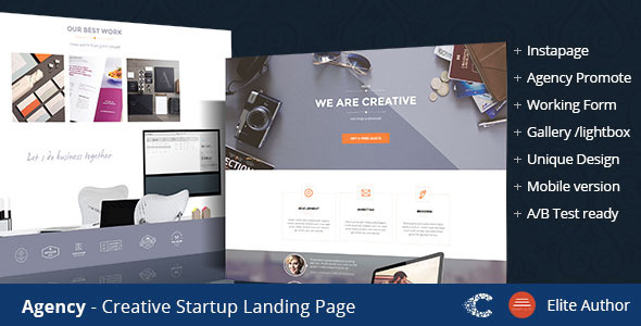 Agency Creative Landing Page - Instapage Marketing