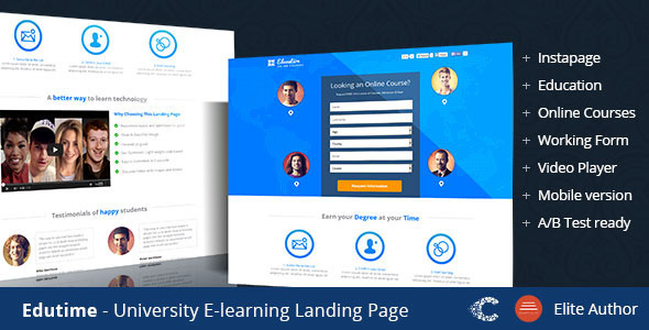 Edutime - Course Instapage Landing - Instapage Marketing