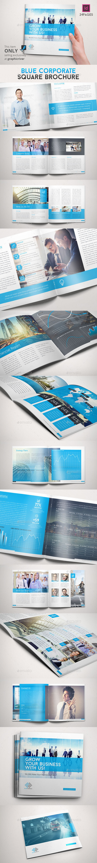 Blue Corporate Square Brochure - Corporate Brochures