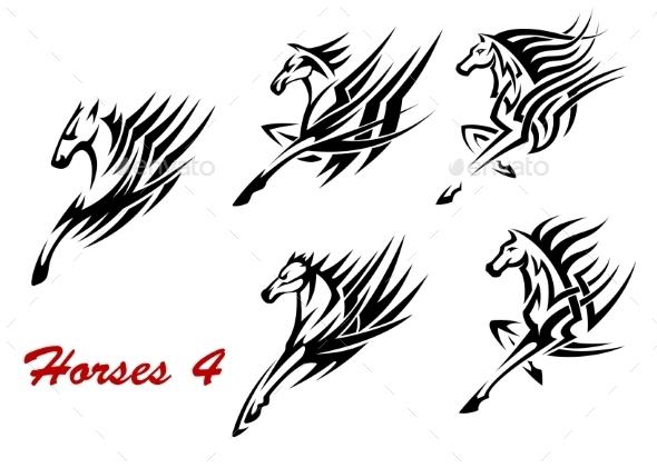 Galloping Horses Symbols - Decorative Symbols Decorative