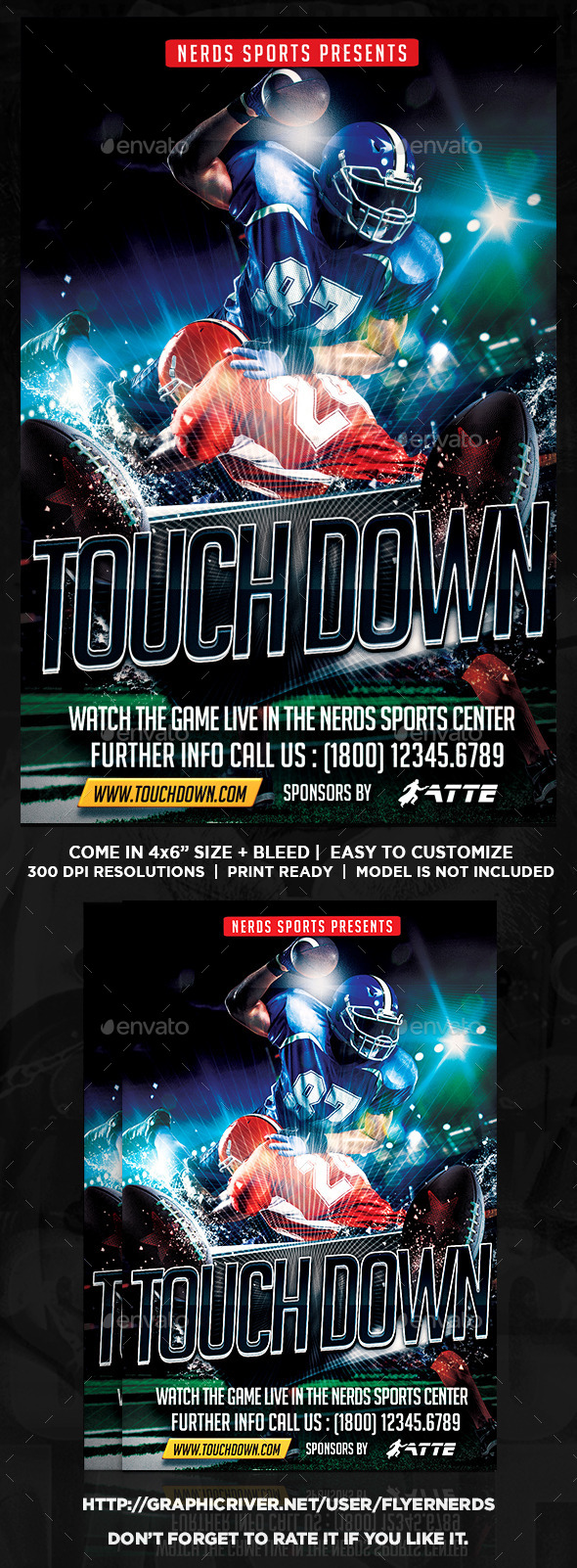 TouchDown Football Flyer - Sports Events