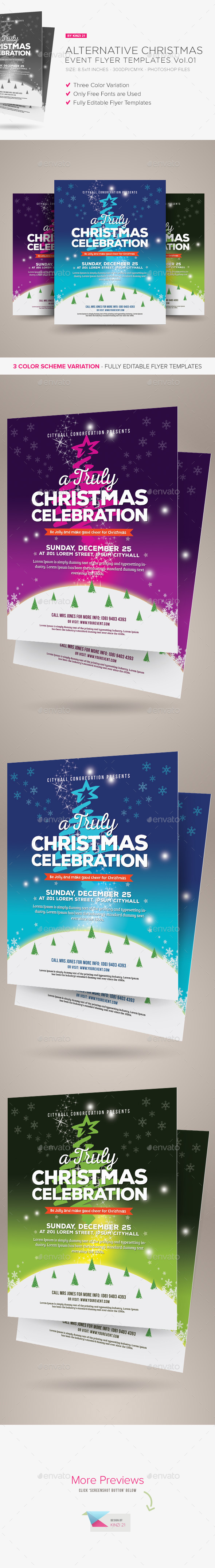 Alternative Christmas Event Flyer Vol.01 - Holidays Events