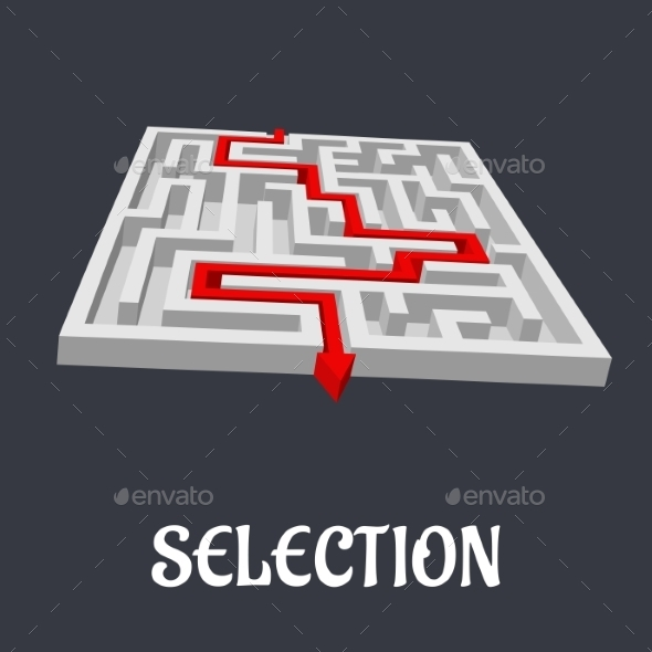 Labyrinth with the Word Selection Below - Conceptual Vectors