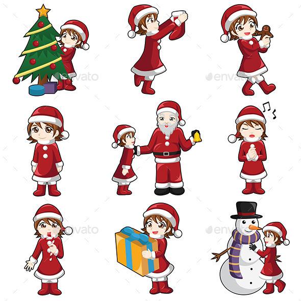 girl with christmas stuff christmas seasonsholidays - Girl Stuff For Christmas