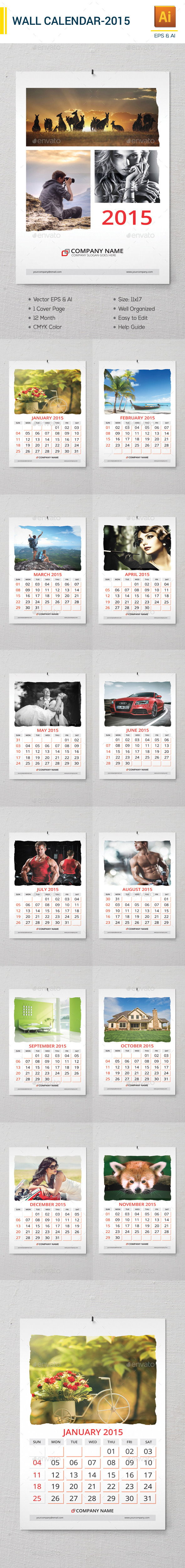 Wall Calender 2015 - Calendars Stationery