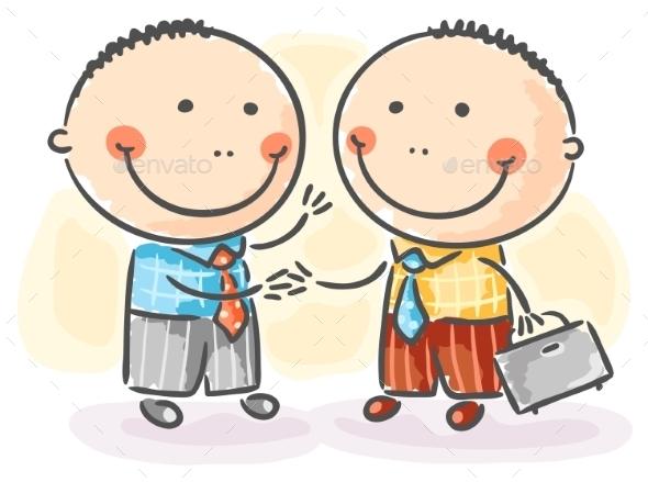 Businessmen making an Agreement - Business Conceptual
