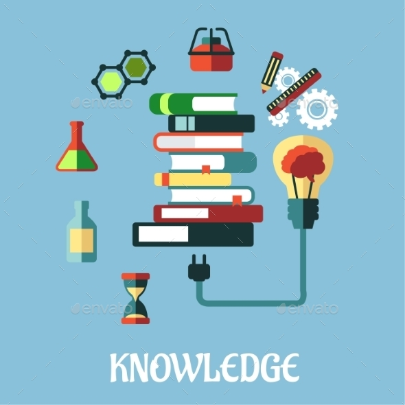 Knowledge and Web Education Flat Design - Technology Conceptual