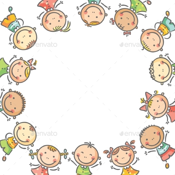 Happy Children - Backgrounds Decorative