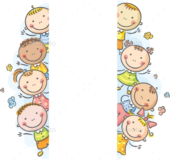 Kids with Frame - Backgrounds Decorative