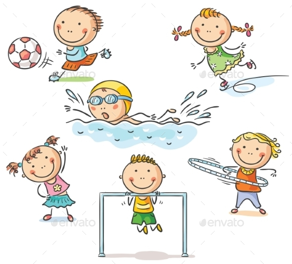 Kids and their Sports Activities - Sports/Activity Conceptual