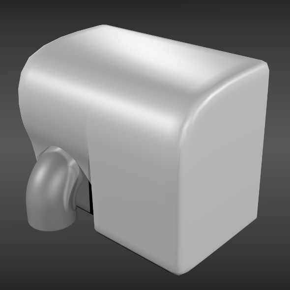 Hand dryer - 3DOcean Item for Sale