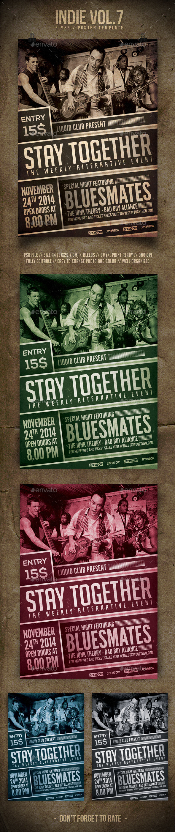 Indie Flyer Template Vol 7 - Concerts Events